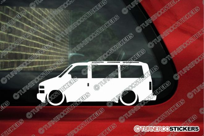 2x LOW Chevrolet Astro Van LT (1995-2005)  Lowered outline stickers